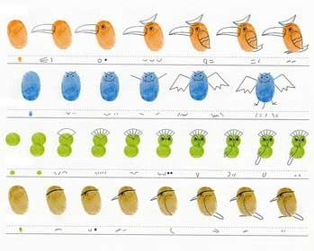 Оказывается рисование пальчиковыми красками - вот где можно проявить фантазию.  Только посмотите на эти рисунки, это...